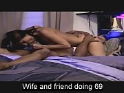 Sexy wifey doing sixty nine with black acquaintance