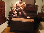 A cool redhead wifey named sally having fun with hubby