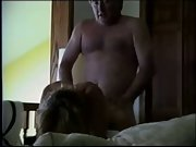 Older mature couple sloppy talking oral and doggy fashion hook-up