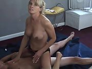 Naughty cheating wife riding a stranger's rock-hard dick