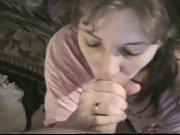 Wife gargle and gulp cum on her knees while being recorded in pov