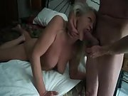 Playful mature bitch loves the experiencing of a rigid dick in her mouth