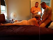 Sexy hot wife and husband in a 3 sum with her boy
