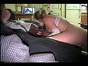 Cuckold huge-boobed mummy in white undergarments pounding black brothers big rods