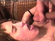 Michelle the milf from maine taking a cum shot to the face