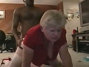 Amateur movie of a mature who just luvs the dark-hued meat