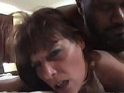 Slutty mature brunette gets her pussy tucked