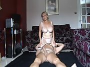 A mature uk gilf porking a younger stud and rocking him silly