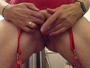 Crazy bored wife, shaved pussy taunt
