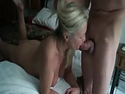 Watch a mature granny giving head to her man
