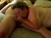 Sub/slut blowing a strangers cock