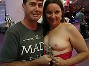 Rosemary sharing her knockers with a few friends