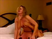 Blond cuck milf orgasming on a stranger's dick as her husband films