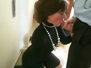 Wife giving head before the thanksgiving meal
