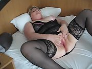 Masturbating session in motel room with a stranger at a weekend trip