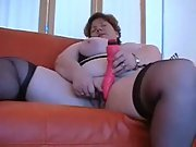 Chris44g stockings and suspenders plus-size draining with sex fucktoy