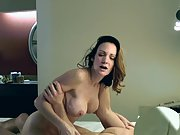 Mature cuckold hotwife does ass fucking for the very first time in front of spouse
