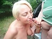 Sexy senior outside suck off excellent skills nice facial