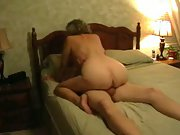 Mature milf filmed by husband having fuck-fest with another guy