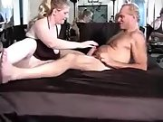 Busty hotwife wifey having sex with a hairy fellow
