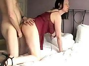 Hot mummy with very sexy red lingerie