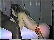 Interracial vintage fuck-fest tape with a spectacular cuckold wifey